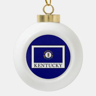 Kentucky Ceramic Ball Christmas Ornament