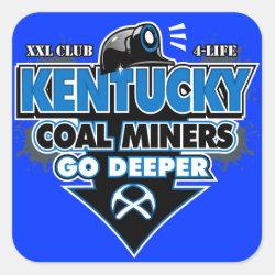 KENTUCKY COAL MINERS GO DEEPER SQUARE STICKER
