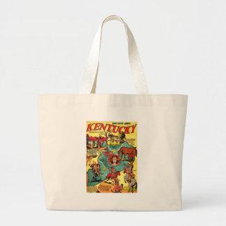 Kentucky Comic Book Cover Canvas Bags