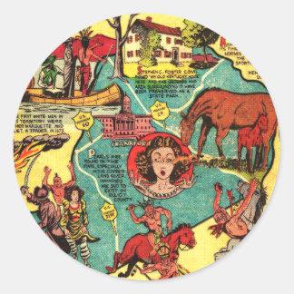 Kentucky Comic Book Cover Classic Round Sticker