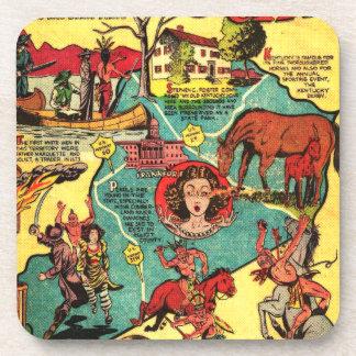 Kentucky Comic Book Cover Coaster