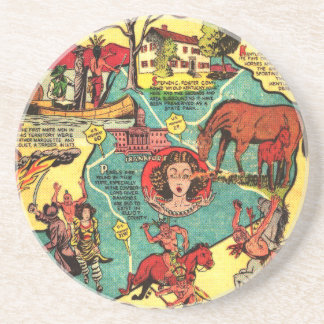 Kentucky Comic Book Cover Drink Coasters