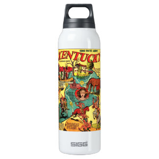 Kentucky Comic Book Cover Insulated Water Bottle