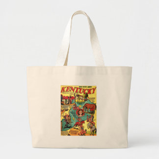 Kentucky Comic Book Cover Large Tote Bag