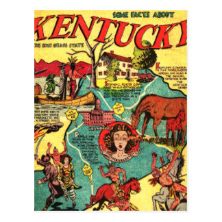 Kentucky Comic Book Cover Postcard
