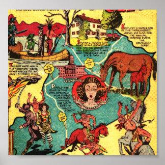 Kentucky Comic Book Cover Poster