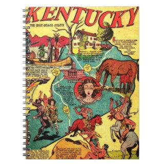 Kentucky Comic Book Cover Spiral Note Books