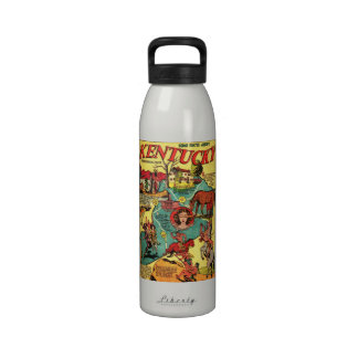 Kentucky Comic Book Cover Water Bottle