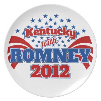 Kentucky con Romney 2012 Platos