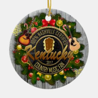 Kentucky Country Music Fan Christmas Ornament