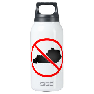 Kentucky Cross Out Symbol Insulated Water Bottle
