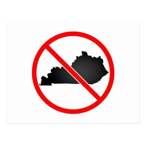 Kentucky Cross Out Symbol Postcard