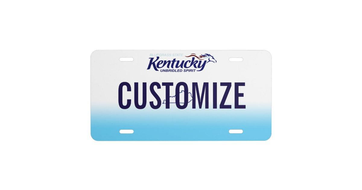 Kentucky Custom License Plate Zazzle Com