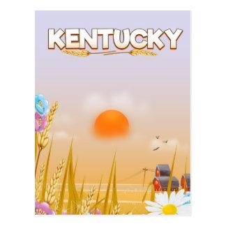 Kentucky Cute Farm travel poster Postcard