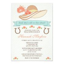 KENTUCKY DERBY HAT BRIDAL SHOWER INVITATION