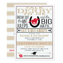 Kentucky Derby Horse Racing Party Black/Red/Gold Invitation