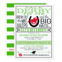 Kentucky Derby Horse Racing Party Black/Red/Kelly Invitation