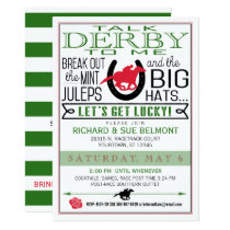 Kentucky Derby Horse Racing Party Blk/Red/Dk Kelly Invitation