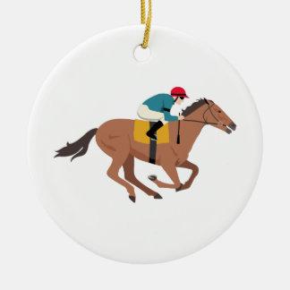 Kentucky Derby Horse Rider Ceramic Ornament
