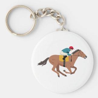 Kentucky Derby Horse Rider Keychain
