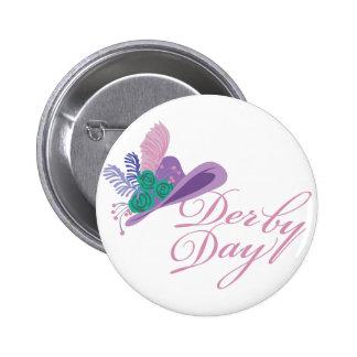 Kentucky Derby Ladies Hat Derby Day 2 Inch Round Button
