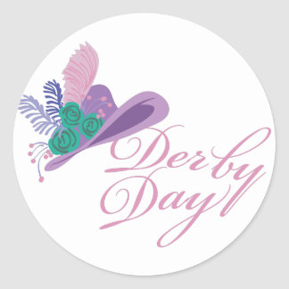 Kentucky Derby Ladies Hat Derby Day Classic Round Sticker