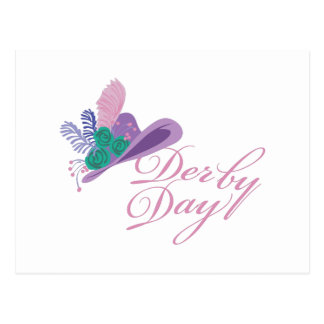 Kentucky Derby Ladies Hat Derby Day Postcard