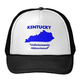 Kentucky - desafortunadamente abreviado gorros bordados