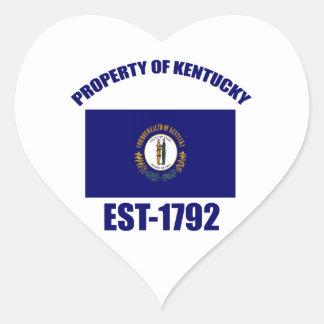 Kentucky design heart sticker