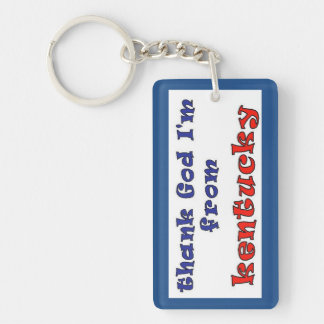 Kentucky Double-Sided Rectangular Acrylic Keychain