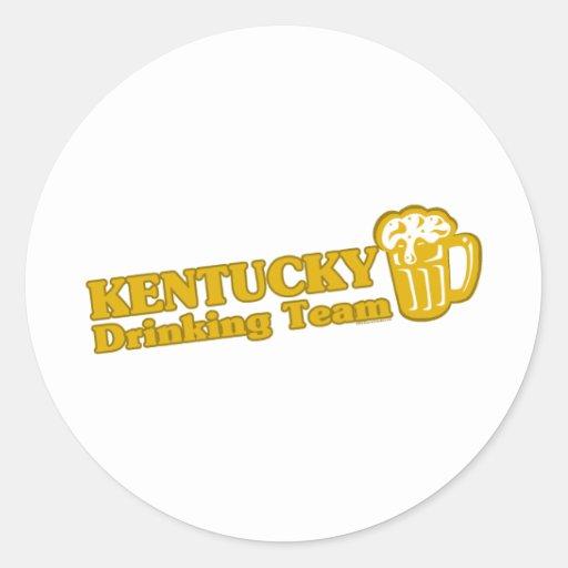 Kentucky Drinking Team t shirts Round Stickers