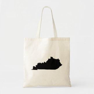 Kentucky en blanco y negro bolsa tela barata