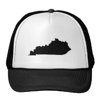 Kentucky en blanco y negro gorras