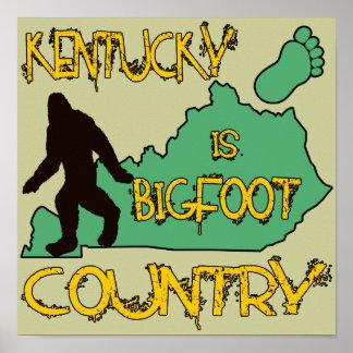 Kentucky es país de Bigfoot Poster