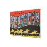 Kentucky (escena) de la carrera de caballos - esce lona envuelta para galerias