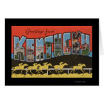 Kentucky (escena) de la carrera de caballos - esce felicitacion