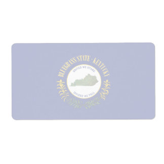Kentucky Faint Banner Shipping Label