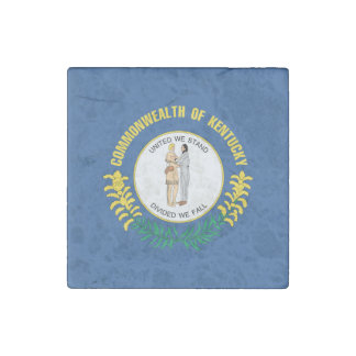 KENTUCKY FLAG STONE MAGNET