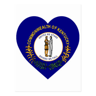 Kentucky Flag Heart Postcard
