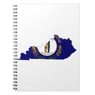 Kentucky Flag Map Spiral Notebook