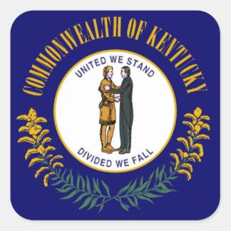 Kentucky Flag Square Sticker