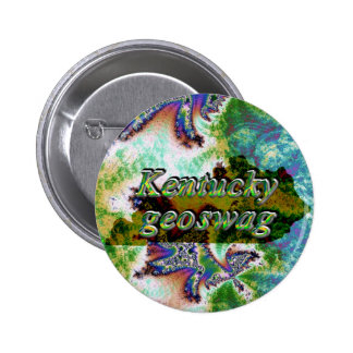 Kentucky Geoswag Swags Geocaching Gifts Treasure Button