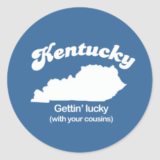 Kentucky - Gettin Lucky T-shirt Classic Round Sticker