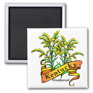 Kentucky Goldenrod 2 Inch Square Magnet
