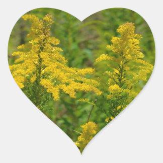 Kentucky Goldenrod Heart Sticker