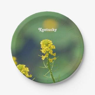 Kentucky Goldenrod 7 Inch Paper Plate