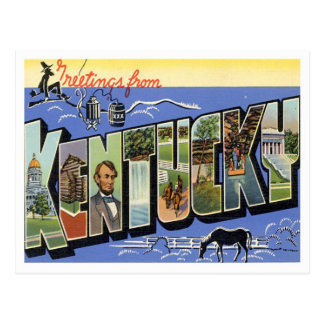 Kentucky Greetings From US States Postcard