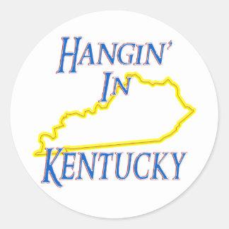 Kentucky - Hangin Pegatina Redonda