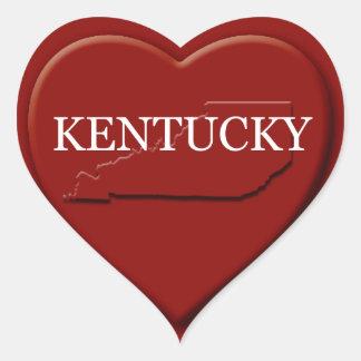 Kentucky Heart Map Design Sticker