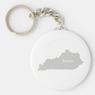 Kentucky home silhouette state map basic round button keychain